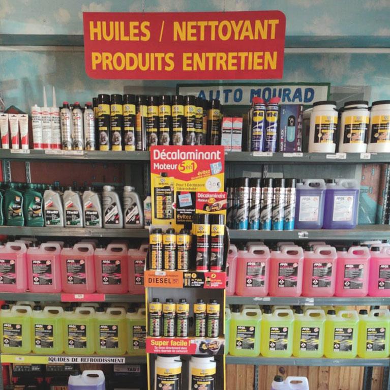 Rayon huiles et nettoyant, produits d'entretien auto à Creil (60)